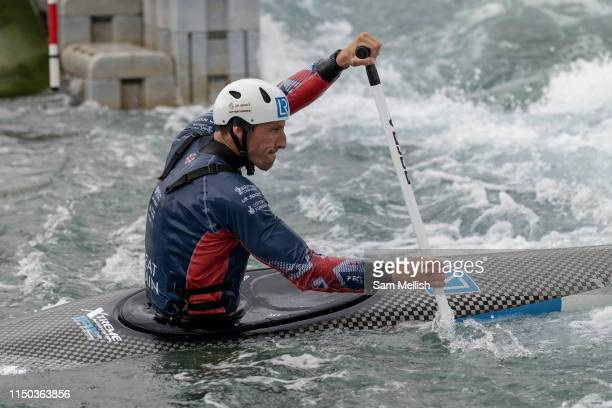 Three time Olympic silver medallist David Florence at Lee Valley White Water Centre with Team GB's Canoe Slalom Team on the 7th June 2019 in London...