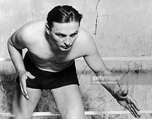 Three time world heavyweight wrestling champion Joe Stecher circa 1920