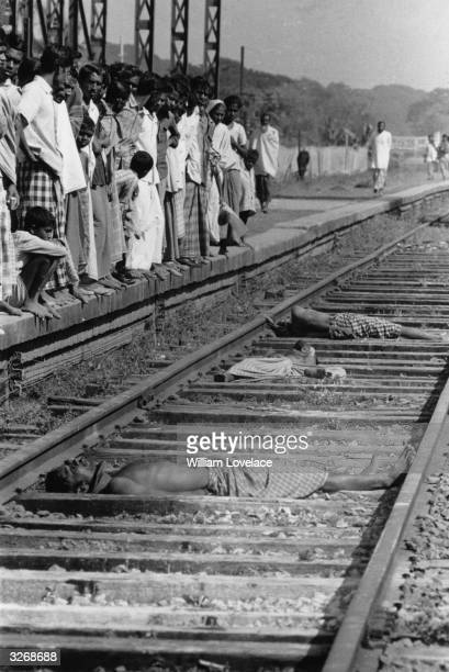 Three traitors lying dead on the railway track victims of the IndiaPakistan conflict when Indian troops supported East Pakistan's struggle to become...