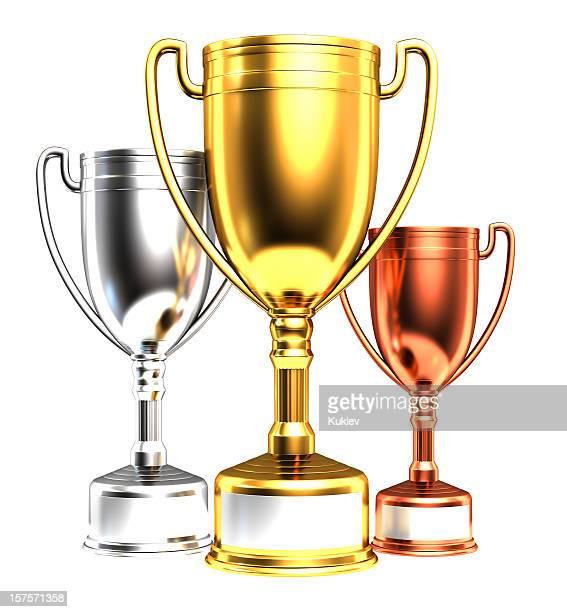 Três troféus