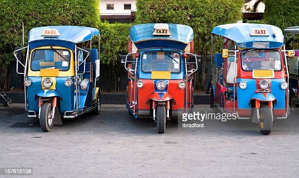 Three Tuk-Tuks (Motorised Rickshaws) In Hua Hin, Thailand