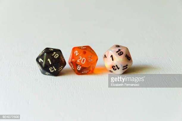 Three twenty sided dice