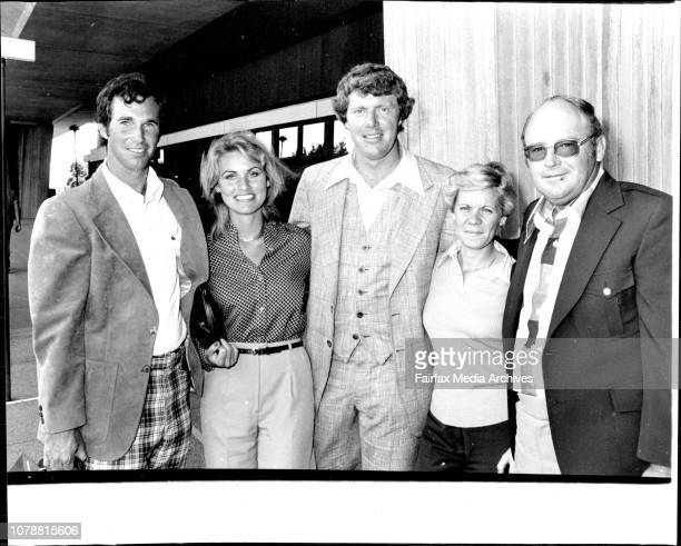 Three US Golfers Arrive Today In The Australian Open Hubert Green Wife Karen Andy Bean Karen amp Miller Barber November 14 1977