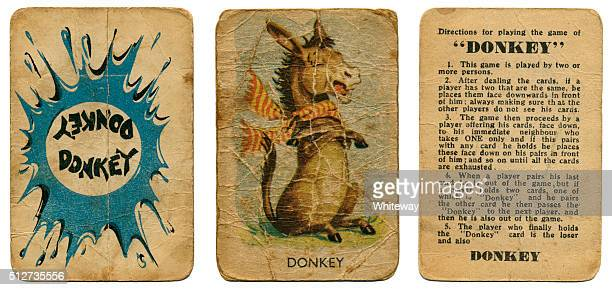 Donkey vintage playing cards Clifford series 1950