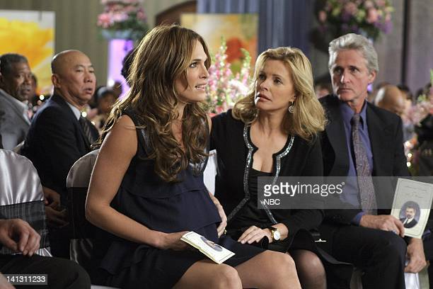 LAS VEGAS Three Weddings and a Funeral Episode 518 Airdate 2/15/2008 Pictured Molly Sims as Delinda Deline Cheryl Ladd as Jillian Photo by Paul...