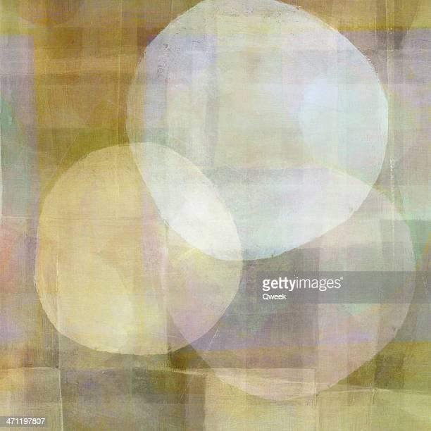 três círculos branco - pintura a óleo imagem pintada - fotografias e filmes do acervo
