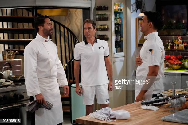 WILL GRACE 'Three Wise Men' Episode 113 Pictured Victor Turpin as Elias Eric McCormack as Will Truman Geovanni Gopradi as Alejandro