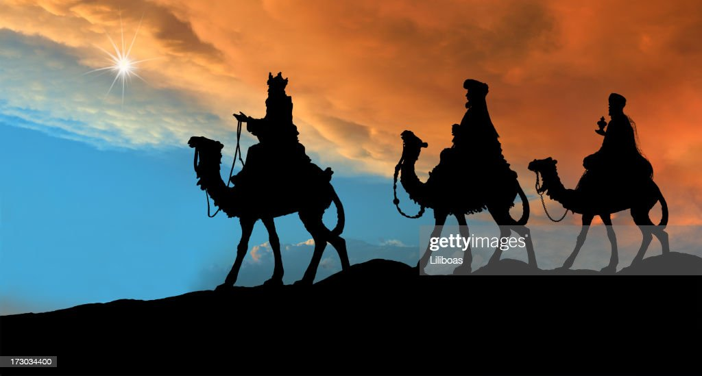 Three Wise Men (Photographed Silhouette) : Stock Photo