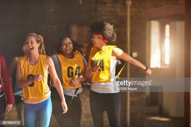 three womem jumping in gym. - real people stock pictures, royalty-free photos & images