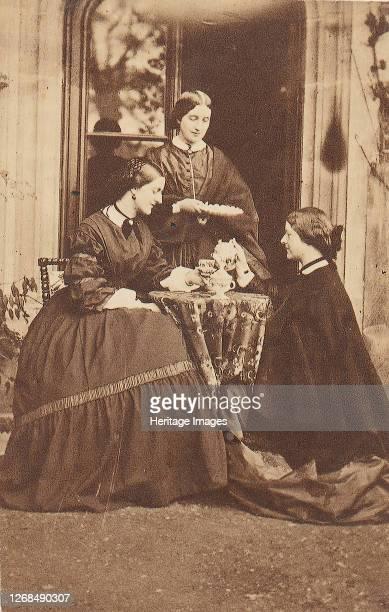 Three Women at Tea, 1860s. Artist Unknown.