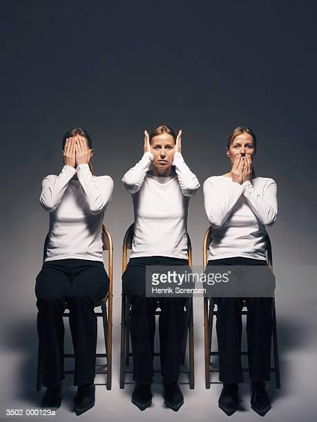 Three Women in Chairs