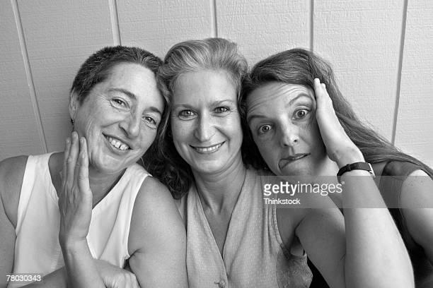 Three women posing together