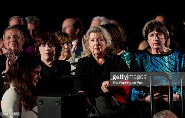 ST LOUIS MO Three women who accused Bill Clinton of sexual misconduct Juanita Broaddrick Kathleen Wiley and Kathy Shelton watch the second...