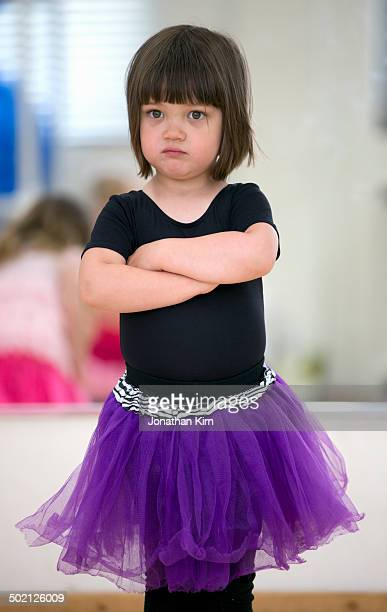Three year old girls in ballet class.