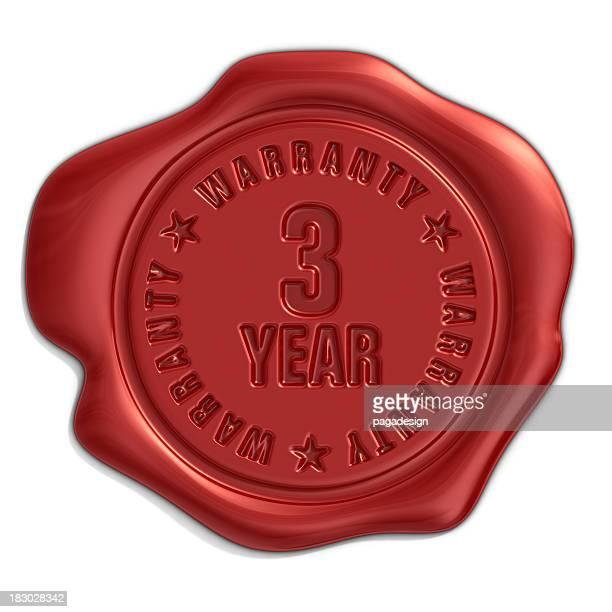 three year warranty seal