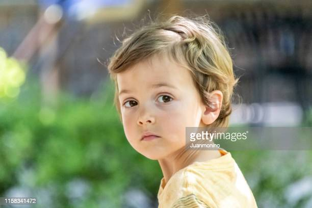 three years old child boy looking at the camera - 2 3 years stock pictures, royalty-free photos & images