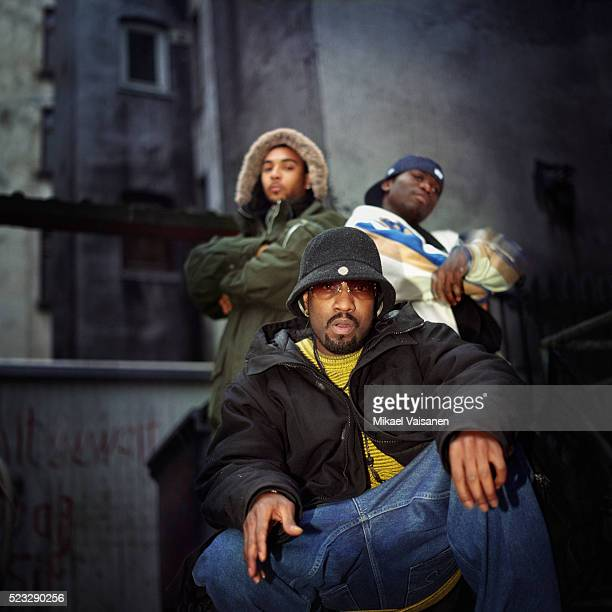 three young hip hop musicians - hip hop music stock pictures, royalty-free photos & images
