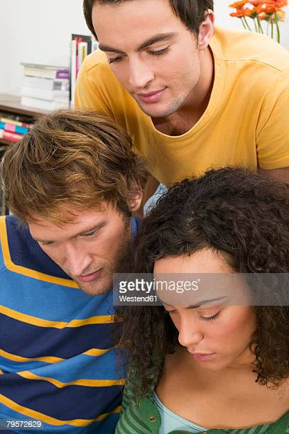 three young people, close-up - flat chested woman stock photos and pictures