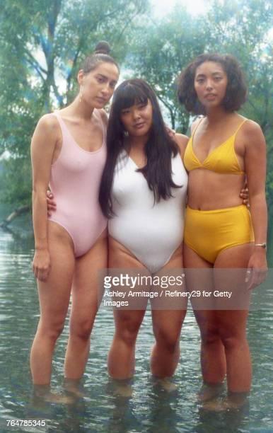 Three Young Women At The Lake