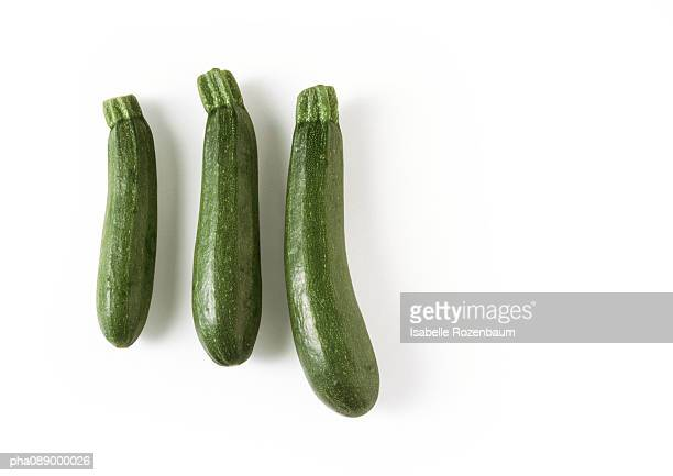 Three zucchini, full length