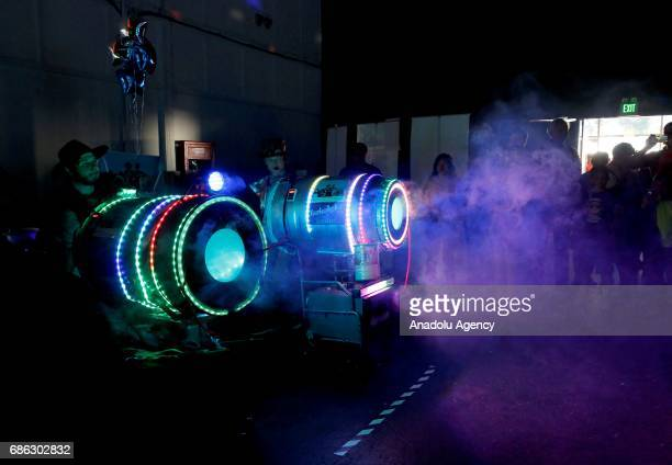 Threedimensional designs are being displayed during the Inventor's Heaven 9th Annual Maker Faire in San Mateo district of California United States on...