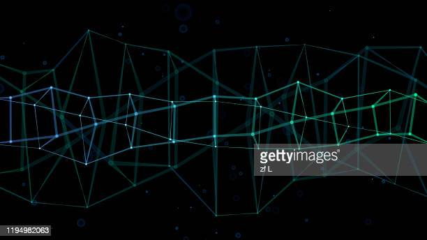 three-dimensional dotted line space - agility stock pictures, royalty-free photos & images