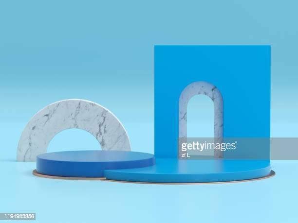 three-dimensional product display space - winners podium imagens e fotografias de stock