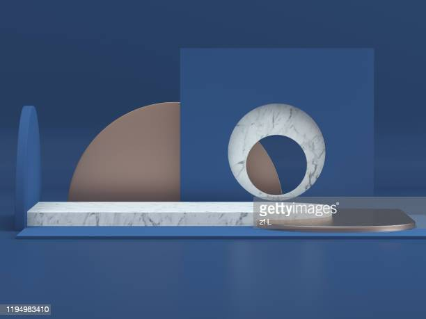 three-dimensional product display space - winners podium stock pictures, royalty-free photos & images