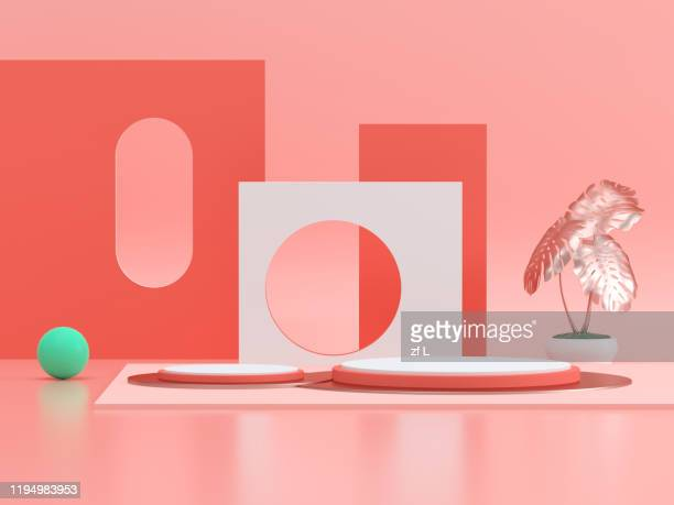 three-dimensional product display space - arch stock pictures, royalty-free photos & images