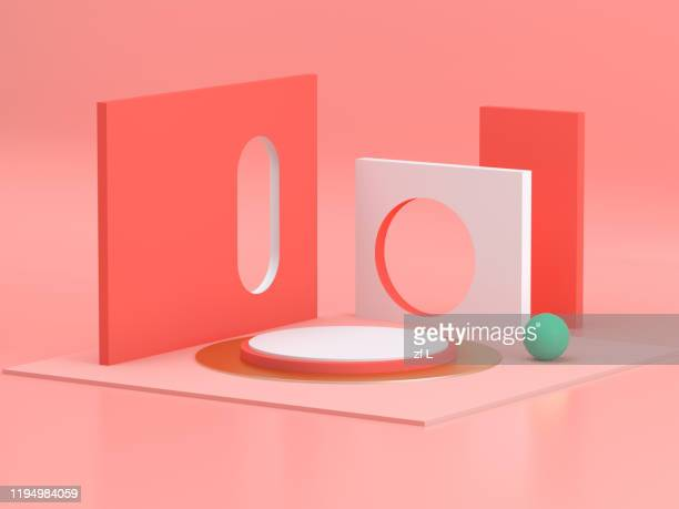 three-dimensional product display space - three dimensional stock pictures, royalty-free photos & images