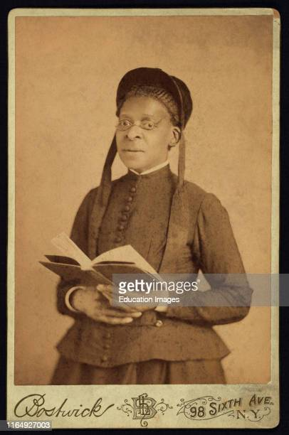 Threequarter Length Portrait of African American Woman Posed with Book by Harriet L Bostwick William A Gladstone Collection of African American...