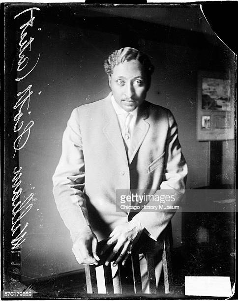 Threequarter length portrait of William Scott an African American artist standing in a room 1910s This image was probably taken in Chicago Illinois
