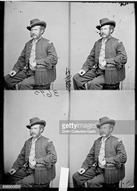Threequarter length seated portrait of Edward P Doherty a Civil War officer who led the capture of John Wilkes Booth 1863 Image courtesy National...
