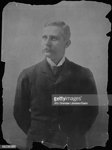 Three-quarter length standing portrait of Henry Newell Martin, who was appointed to the first professorship of physiology at Johns Hopkins...