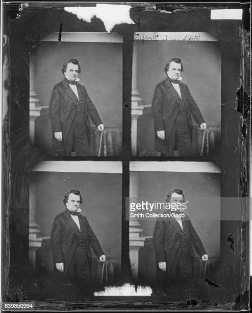 Threequarter length standing portrait of Illinois politician Stephen A Douglas 1863 Image courtesy National Archives