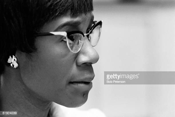 Threequarter profile portrait of American Congresswoman Shirley Chisholm Washington DC 1970