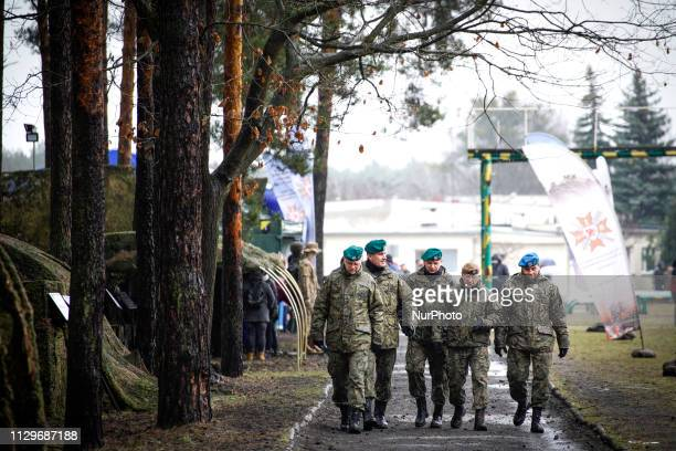 A threes star general visits a military base in Bydgoszcz Poland on March 9 2019 on the occasion of Poland's 20th anniversary of joining NATO