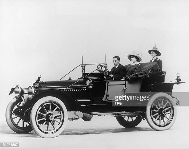 Three-seater Packard automobile, 1913.