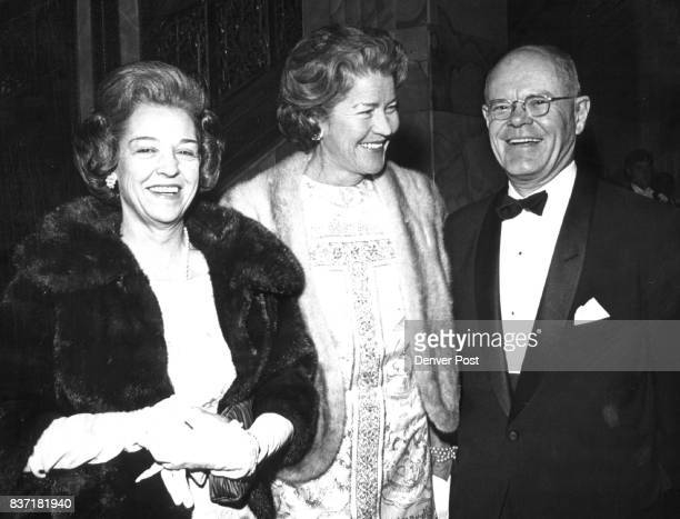 Threesome Arrives For Gala Evening Mr and Mrs Edwin Grant came with Mrs Adolph Coors III center whose son Adolph Coors IV was deb escort Credit...
