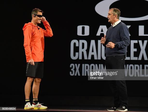Threetime Ironman Triathlon world champion Craig Alexander and Intel Corp CEO Brian Krzanich talk about Oakley's Radar Pace interactive sunglasses...