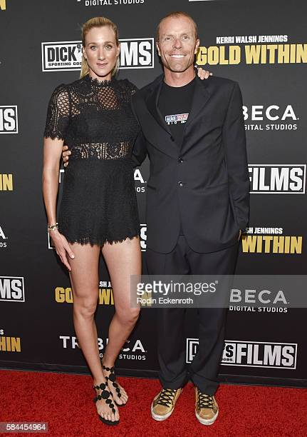 Threetime Olympic gold medalist Kerri Walsh Jennings and husband professional beach volleyball player Casey Jennings attend the premiere of Kerri...