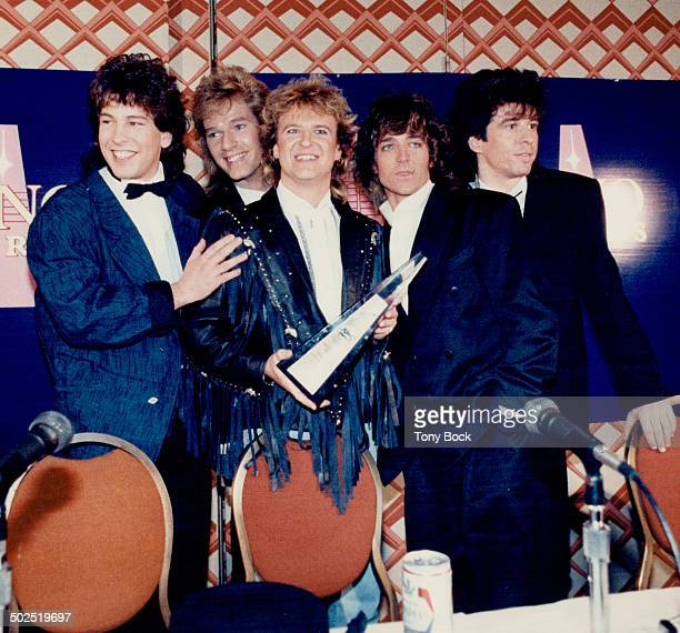 Threetime winners The Newmarket band Glass Tiger last night won in three categories at the Juno Awards which were presented during a televised show...