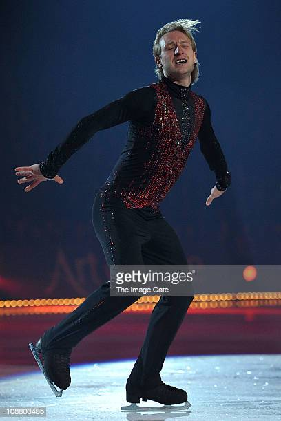 Threetime World Champion and Olympic Gold Medalist Figure Skater Evgeni Plushenko performs during Art On Ice at Hallenstadion on February 3 2011 in...
