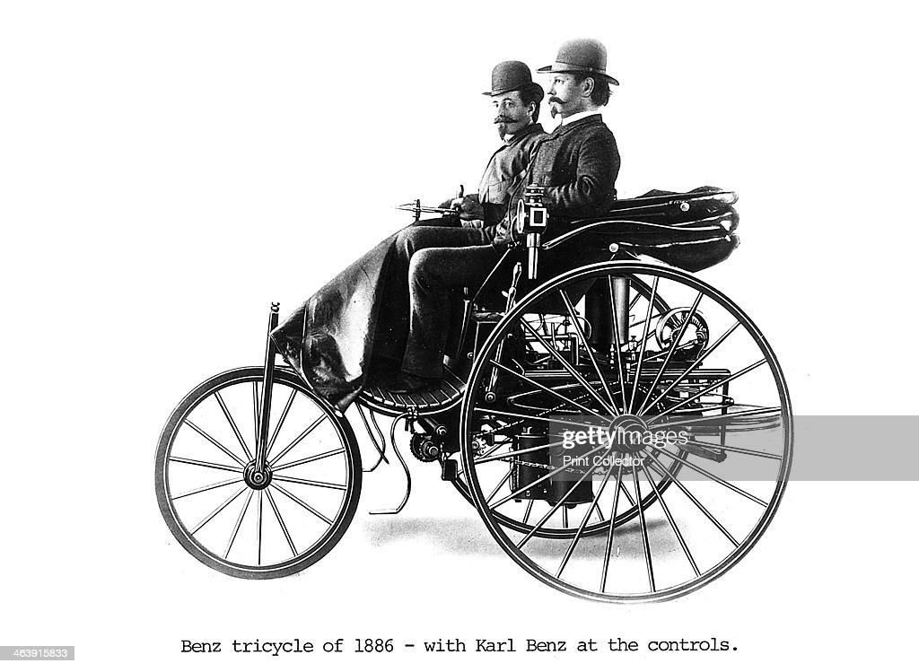 Three-wheeled Benz motor car, 1886. Pictures | Getty Images