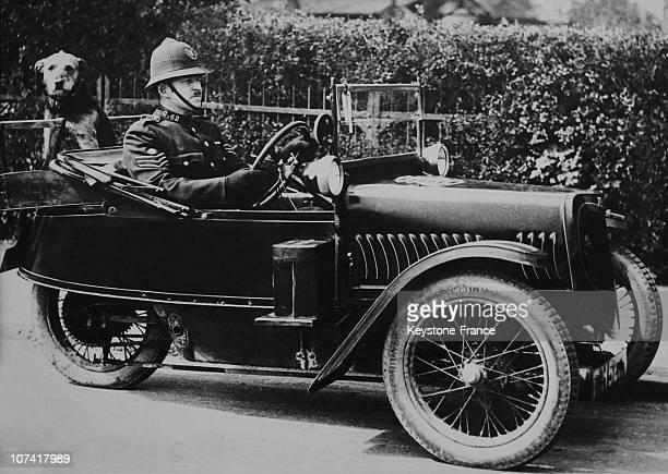 Three-Wheeled Vehicle For English Police On Thirties