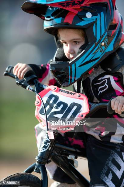Threeyear old Dana Nolta competes in the 5 Under Novice class at the USA BMX Mile High Nationals on August 6 at Grand Valley BMX in Grand Junction CO