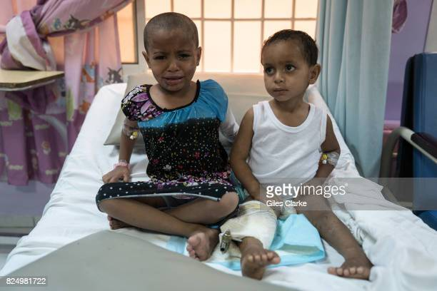 A YEMEN Threeyearold Ahmed and his 6yearold sister Khaoula survived an attack by an airstrike on their house in Al Mutun on 14 April 2017 Their...