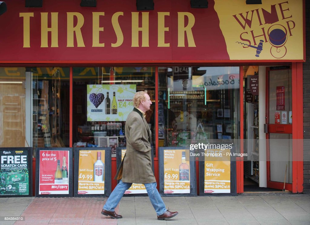 Threshers off licence in Hale, Altrincham.