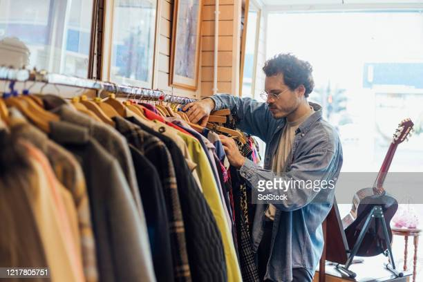 thrift store shopping - merchandise stock pictures, royalty-free photos & images
