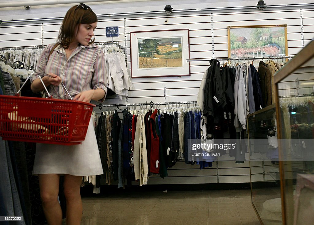 Thrift Stores See Increased Profit During Economic Downturn : News Photo